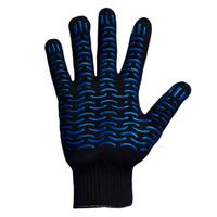 Перчатки 6 нитей 10 класс с ПВХ (черные)